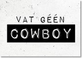 Black and White Cards - Cowboy