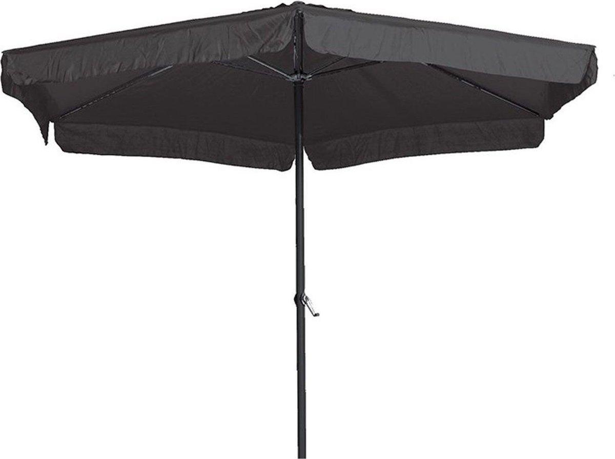 Garden Impressions Delta parasol - 300 cm - carbon black/ donkergrijs