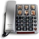 Amplicomms BigTel40BNL zilver Senioren huistelefoon met foto's en extra luid