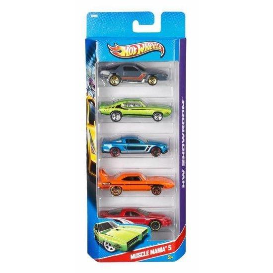 Hot Wheels Cadeauset met 5 Auto's - Speelgoedvoertuig