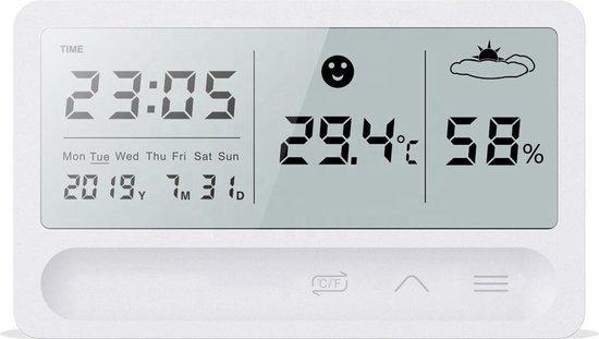 Greenure Digitale Thermometer - Hygrometer - Luchtvochtigheidsmeter - Weerstation - Voor Binnen