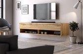 Hangend Tv Meubel Eiken 140 cm - Modern Strak Design
