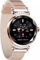 SAMMIT Smartwatch Dames Roségoud met StappenTeller- Met Meldingen- Calorieënmeter- Intel