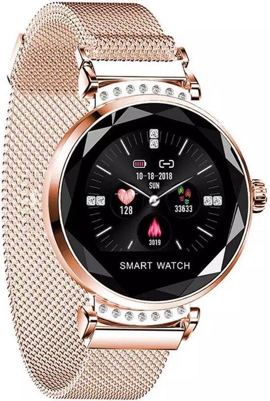 SAMMIT Smartwatch Dames Roségoud met StappenTeller- Met Meldingen- Calorieënmeter- Intelligente Smartwatch Dames en Heren- Smartwatch Iphone & Android- Sporthorloge