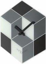 NeXtime Cubic - Klok - Glas - Ø43 cm - Grijs