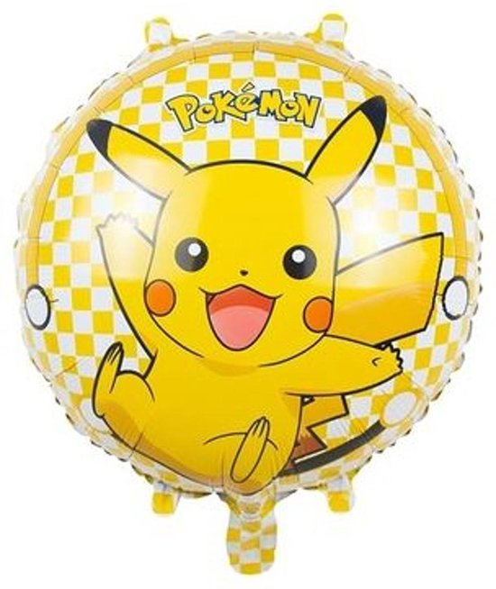 Cartoon Pikachu Pokemon ballon. Kinderballon, Folieballon, Pokémon