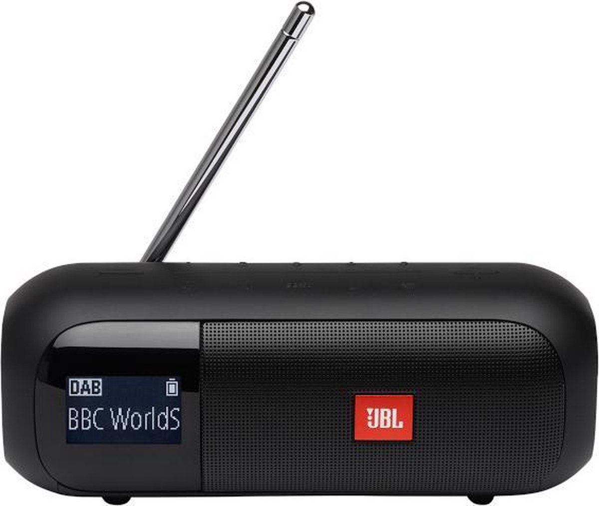 JBL Tuner 2 - Draagbare DAB+ radio met Bluetooth - Zwart