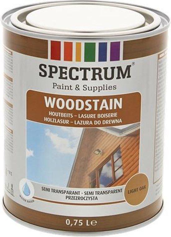 semi-transparante houtbeits - Voor een langere levensduur van tuinhout - 750ML - Licht eiken