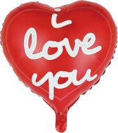 Helium Ballon Hart I Love You 45cm Leeg