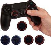 Siliconen Thumb Grips - 1 Set Rood + 1 Set Blauw -  (Set van 4) Voor Playstation & Xbox