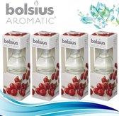 Bolsius Geurstokjes Aromatic Wild Cranberry 4x45 ml - Voordeelverpakking