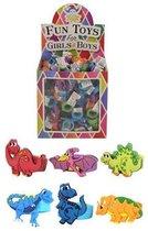 Uitdeelcadeautjes - Kinderringen - Model: Dinosaurussen in Traktatiebox (156 stuks)