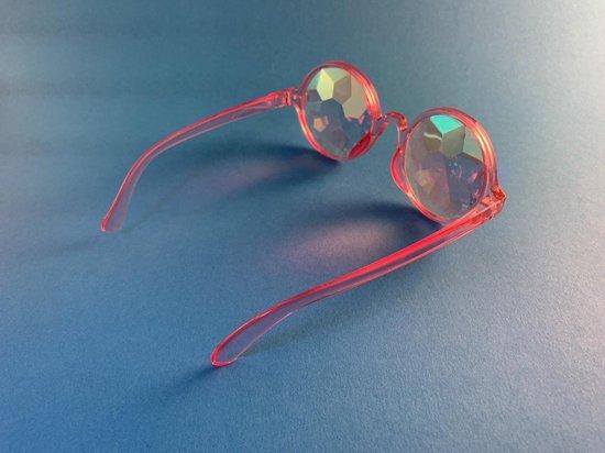 Spacebril Roze | Caleidoscoop Bril Roze | Kaleidoscoop Bril Roze