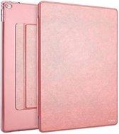 Apple iPad Pro 9.7 inch Folio Semi transparent Flip cover PU Leather hoesje Rose Goud
