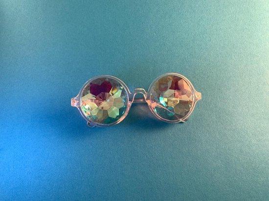 Spacebril Transparant | Caleidoscoop Bril Transparant | Kaleidoscoop Bril Transparant