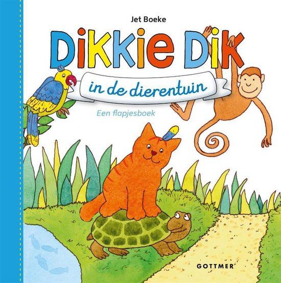 Boek cover Boeke, Jet - Dikkie Dik in de dierentuin (blauw) van Jet Boeke (Hardcover)