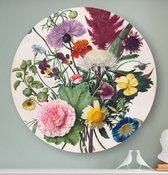 HIP ORGNL Boeket bloemen   rond schilderij   bloemschilderij   wandcirkel   muurcirkel   ronde oude meesters   ⌀  80 cm   wanddecoratie   kunstwerken   dibond   aluminium