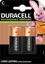 Duracell Rechargeable C 3000mAh batterijen, verpakking van 2