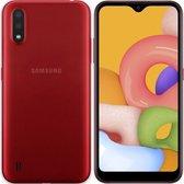 Samsung Galaxy A01 2020 | Dual-Camera | Dual-Sim | Rood|SD Card 16GB + Hoesje + Beschermglass + Nederlandse Sim card