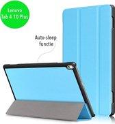 3-Vouw sleepcover hoes - Lenovo Tab 4 10 Plus - lichtblauw