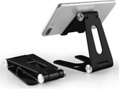 Trendfield Telefoon Houder Opvouwbaar/Inklapbaar - Mini iPad / Telefoonhouder iPhone Standaard voor Bureau of Tafel TTH80 - Zwart