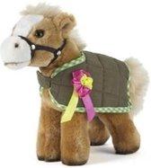 Pluche bruine paard/pony knuffel 23 cm - Paarden knuffels - Speelgoed voor kinderen