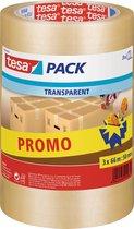 tesapack® Standaard verpakkingstape, 66m:50mm, Promo - Transparant