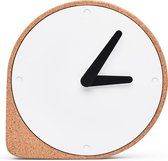 Puik Art Clork Cork Clock - Klok - Rond - Kunststof - Ø19 cm - Bruin / Wit