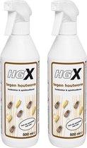 HGX spray tegen houtworm - 2 Stuks !