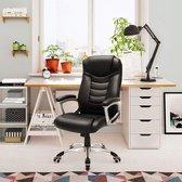 Nancy's Manhattan Luxe Design Manager Bureaustoel - Ergonomische Directiestoel - Kunstleer - Zware Belasting