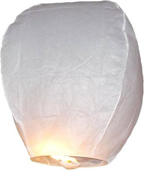 Wensballon Wit 75cm