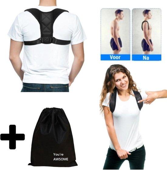Rugbrace voor rug & schouder | Postuur corrector | Rugbrace houding correctie | rug brace houding |Rugbraces| Rug Corrector|| Inclusief Luxe hoes
