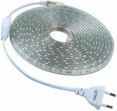 LED Strip 230V - Warm wit 3000k - 60xSMD5050/m - 10m - IP66 Waterproof