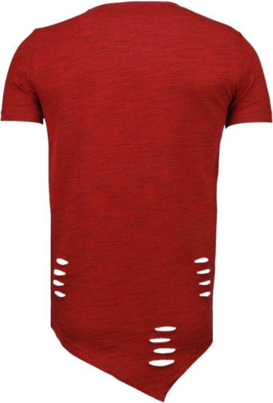 Tony Backer Sleeve Ripped - T-shirt Rood Heren S