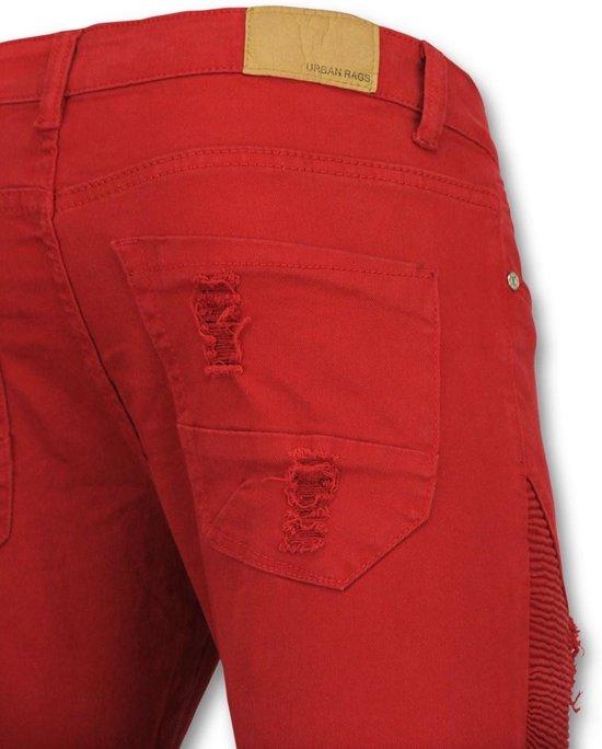 True Rise Rode Broeken Mannen - Biker Jeans Heren U157 W34