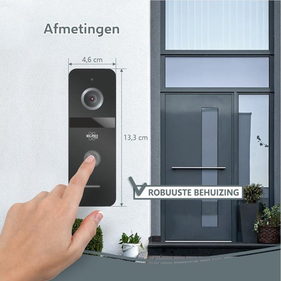 ELRO PRO PV40 Full HD Video Deur Intercom Systeem - 1 Bewoner