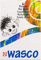 Wasco set 6 kleuren krijtjes waskrijt waspastels