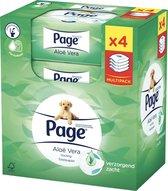 Page Aloë Vera - 4x 38 stuks - Vochtig Toiletpapier Navulling - Multipack