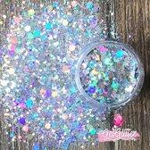 GetGlitterBaby Chunky Festival Glitters voor Lichaam en Gezicht / Face Body Glitter - Zilver