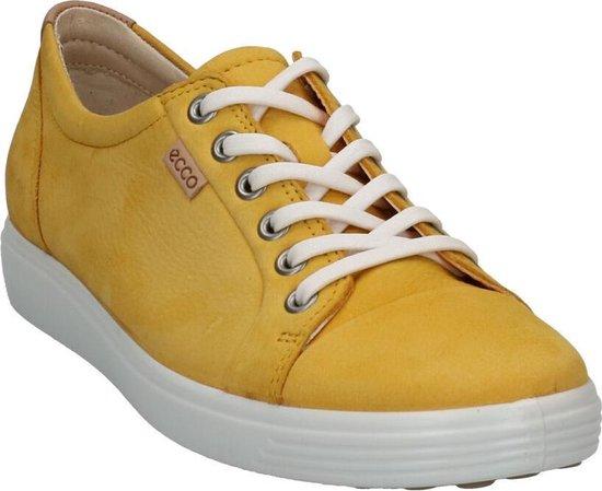 Ecco Soft 7 Gele Veterschoenen Dames 36 FgGtD5