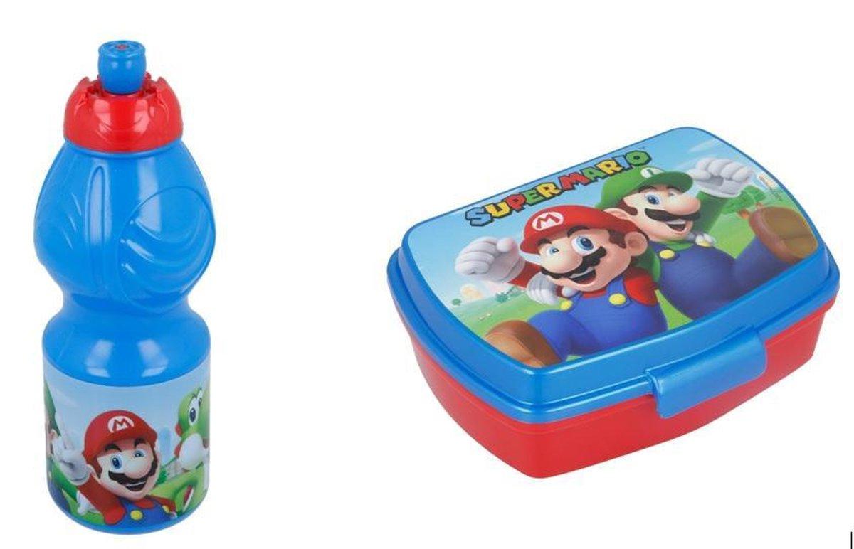 Nintendo Super Mario  lunchbox / broodtrommel &  drinkbeker