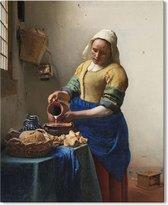 Canvas Schilderij Melkmeisje - Johannes Vermeer - 50x70 cm