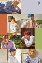 BTS Bangtan Boys poster - Zuid-Korea Rappers - RM,  Suga en J-hope Zangers - Jin, Jimin, V en Jungkook  61x91.5cm