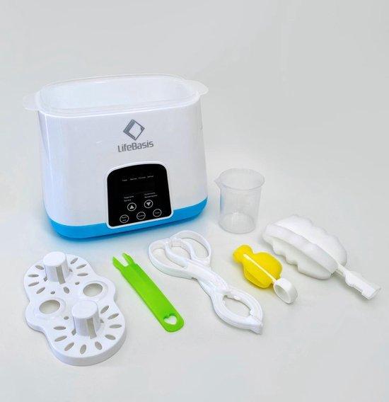 LifeBasis Flessenwarmer met touch screen - Baby fles verwarmer - 6 in 1 Multifunctionele Baby Fles Verwarmer & Sterilisator
