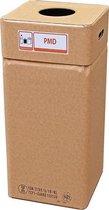 Afvalbak karton, Afvalbox plastic/PMD (herbruikbaar)
