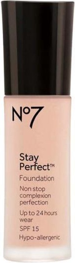 No7 Stay Perfect Foundation Soft Rose SPF15
