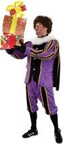 Piet plushe zwart/paars (mooie kwaliteit voor buiten)