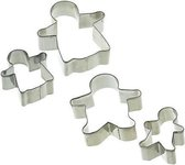 KitchenCraft Set van 4 gingerbreadman uitstekers - Let's Make | Kitchen Craft