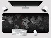 SUPER Grote Muismat 90x40 | Gaming Muismat | Mousepad | Pro Muismat XXL | Antislip | Desktop Mat | Wereldkaart | Computer Mat, zwart , merk Beactiff
