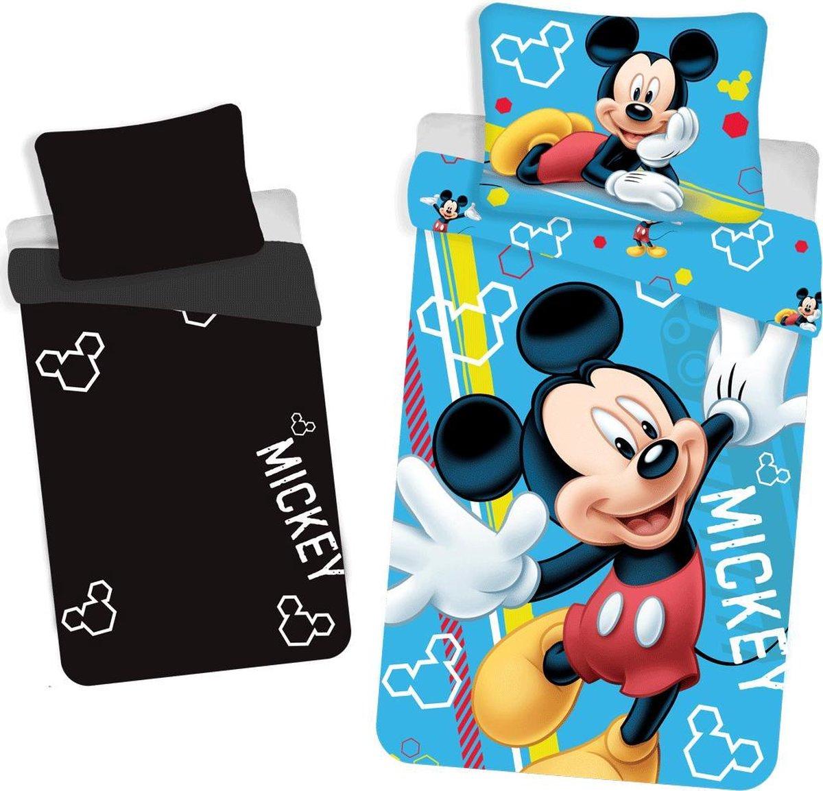 Disney Mickey Mouse Glow in the Dark Dekbedovertrek - Eenpersoons - 140 x 200 cm - Multi kopen